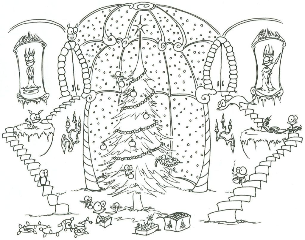 Keptalalat A Kovetkez Re Adult Coloring Christmas