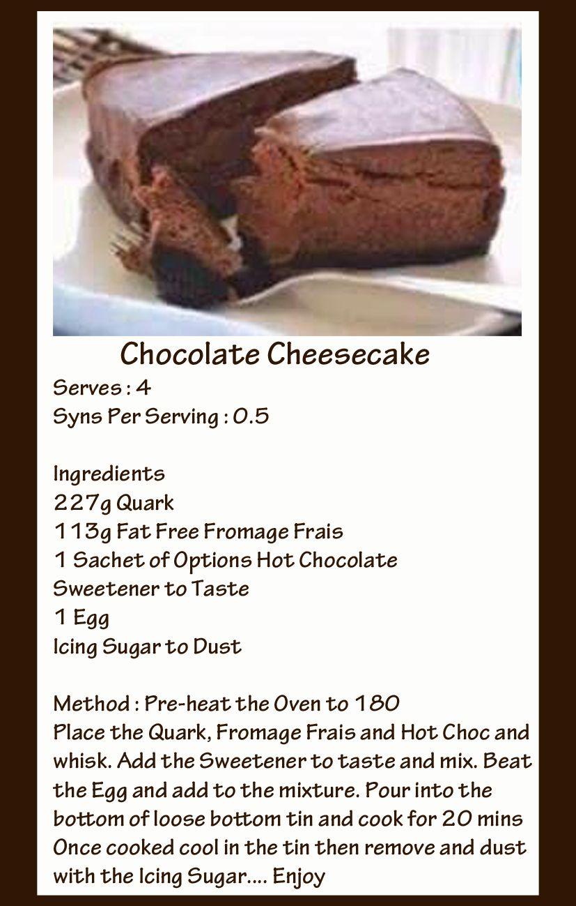 Chocolate Cheesecake In 2019 Slimming World Cake Slimming