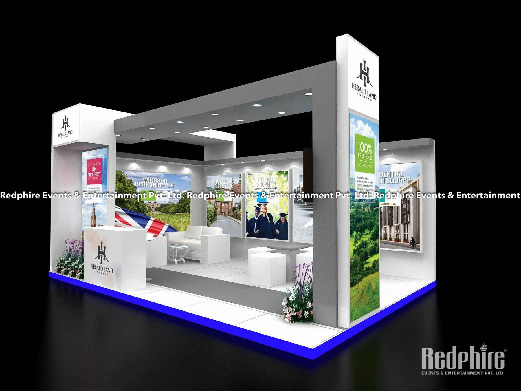 Property Exhibition Booth : Exhibition stall designing febrication herald land