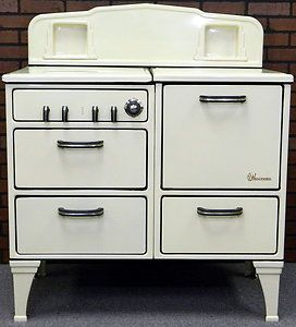 excellent 1930s kitchen | Vtg 1930's Wedgewood Cast Iron Porcelain Gas Stove w Oven ...