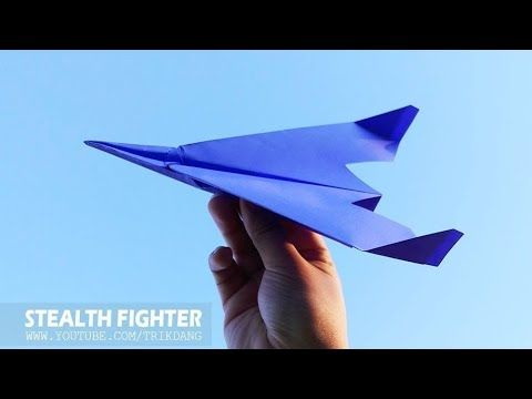 Photo of AMAZING PAPER AIRPLANE – How to make a Paper Airplane that Flies | Stealth Fighter