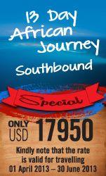 13 Day African Journey Southbound - Guided Fly in Safari - Tanzania, Mozambique, Zambia, Botswana, Zimbabwe