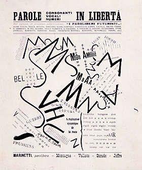 """Filippo Tommaso Marinetti, """"Parole in libertà"""" (manifesto), 1915"""