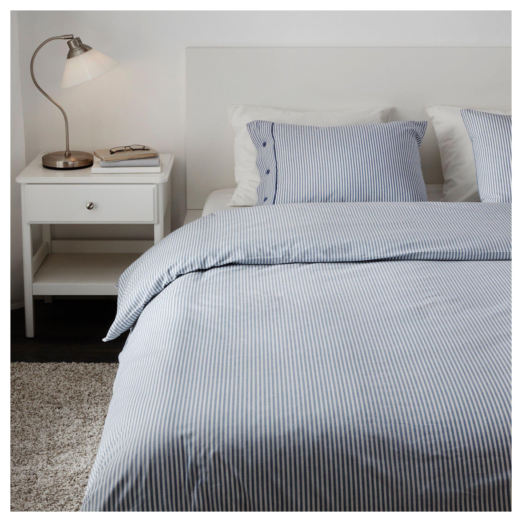 Bettwäscheset 3 Teilig Nyponros Weißblau In 2019 Products Bett