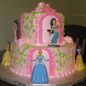 Cute Disney Princess Birthday Cake