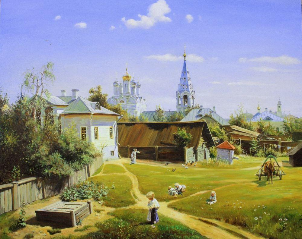 Московский дворик – Василий Поленов