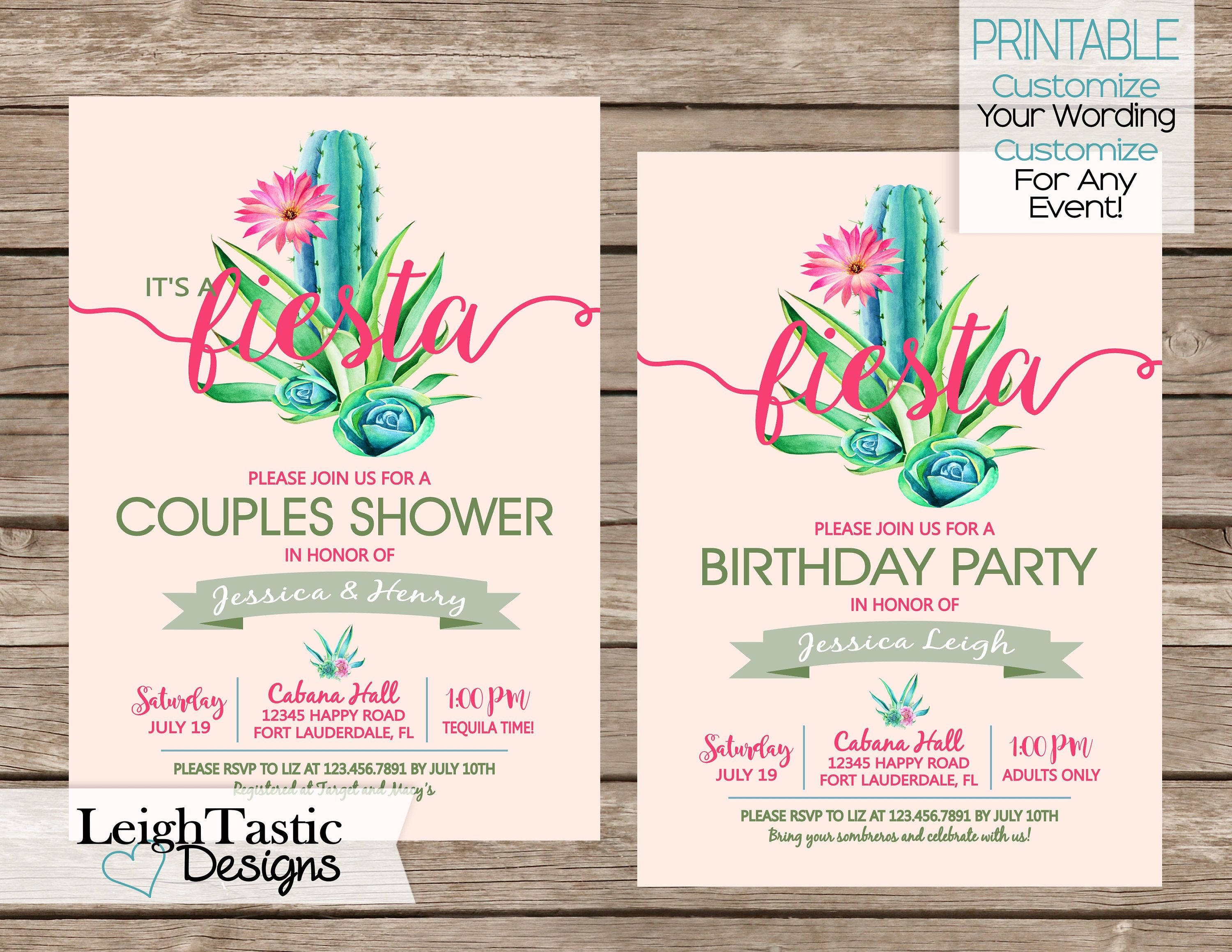 Printable Fiesta Invitation Aztec Mexican Theme Party Birthday