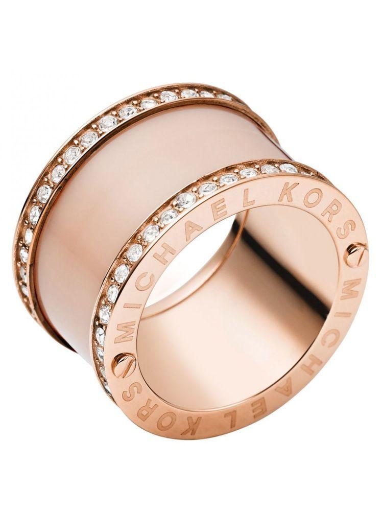 MICHAEL KORS MKJ4332 Rose Gold Tone Blush Acetate Pave