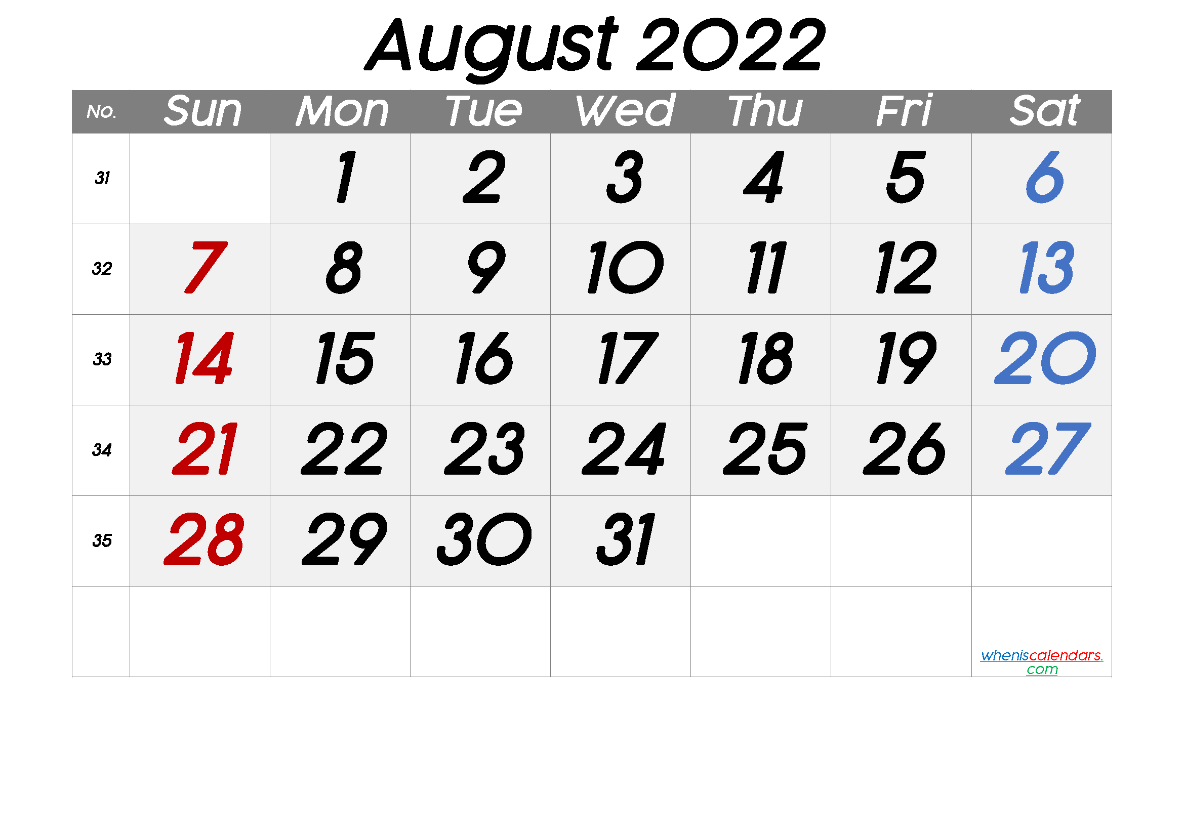 August Printable Calendar 2022.Free Printable Calendar 2022 August Free Premium Calendar Printables Monthly Calendar Printable Printable Calendar Template