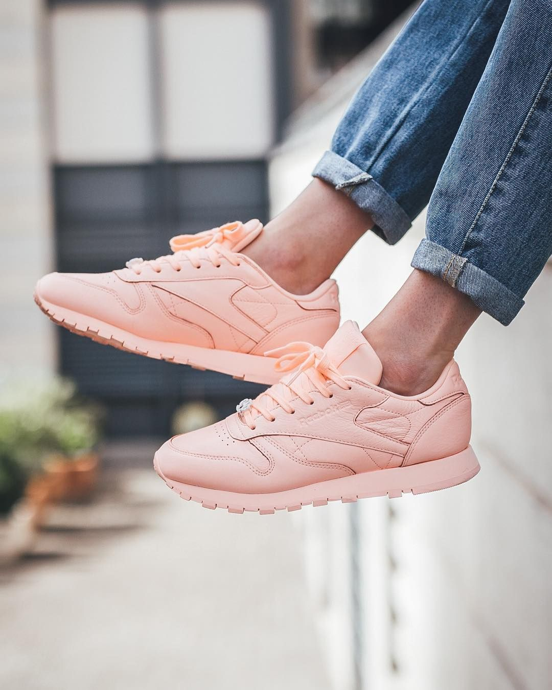 "REEBOK Classic Leather ""Peach Twist . Find this Pin and more on Reebok shoes  ... 4abfe4bc6"