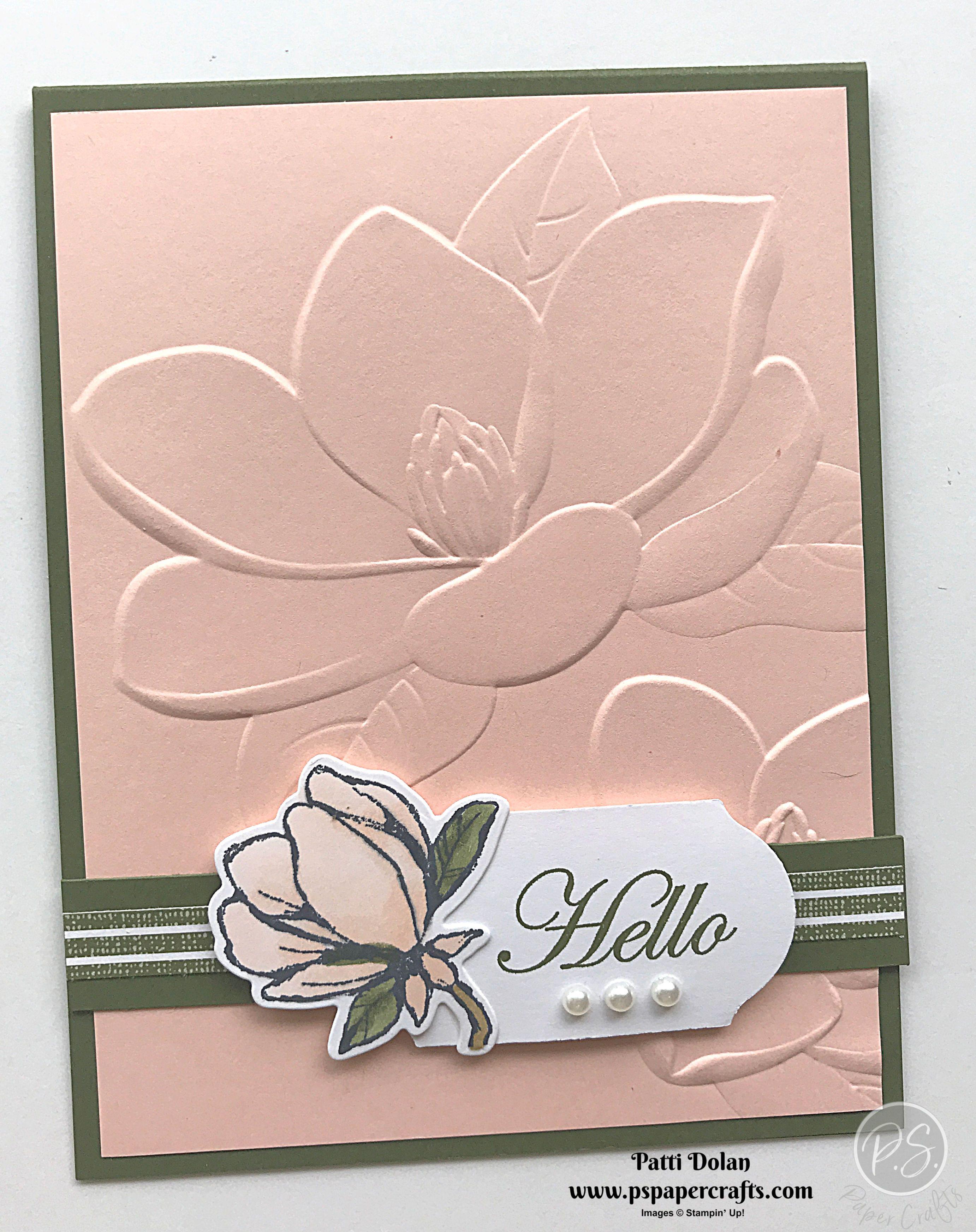 Beautiful Embossed Magnolia Card