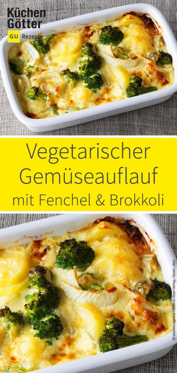 Photo of Vegetarian vegetable casserole with fennel and broccoli