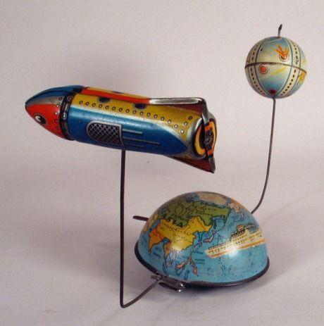 1950′s German Satellite Orbital Tin Toy by PN Phillip Neidemeyer