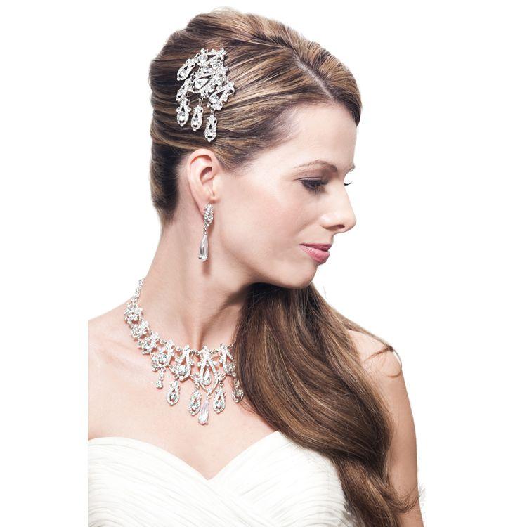 Elena Swarovski Luxe Bridal Comb - Bridal Jewellery - Crystal Bridal Accessories