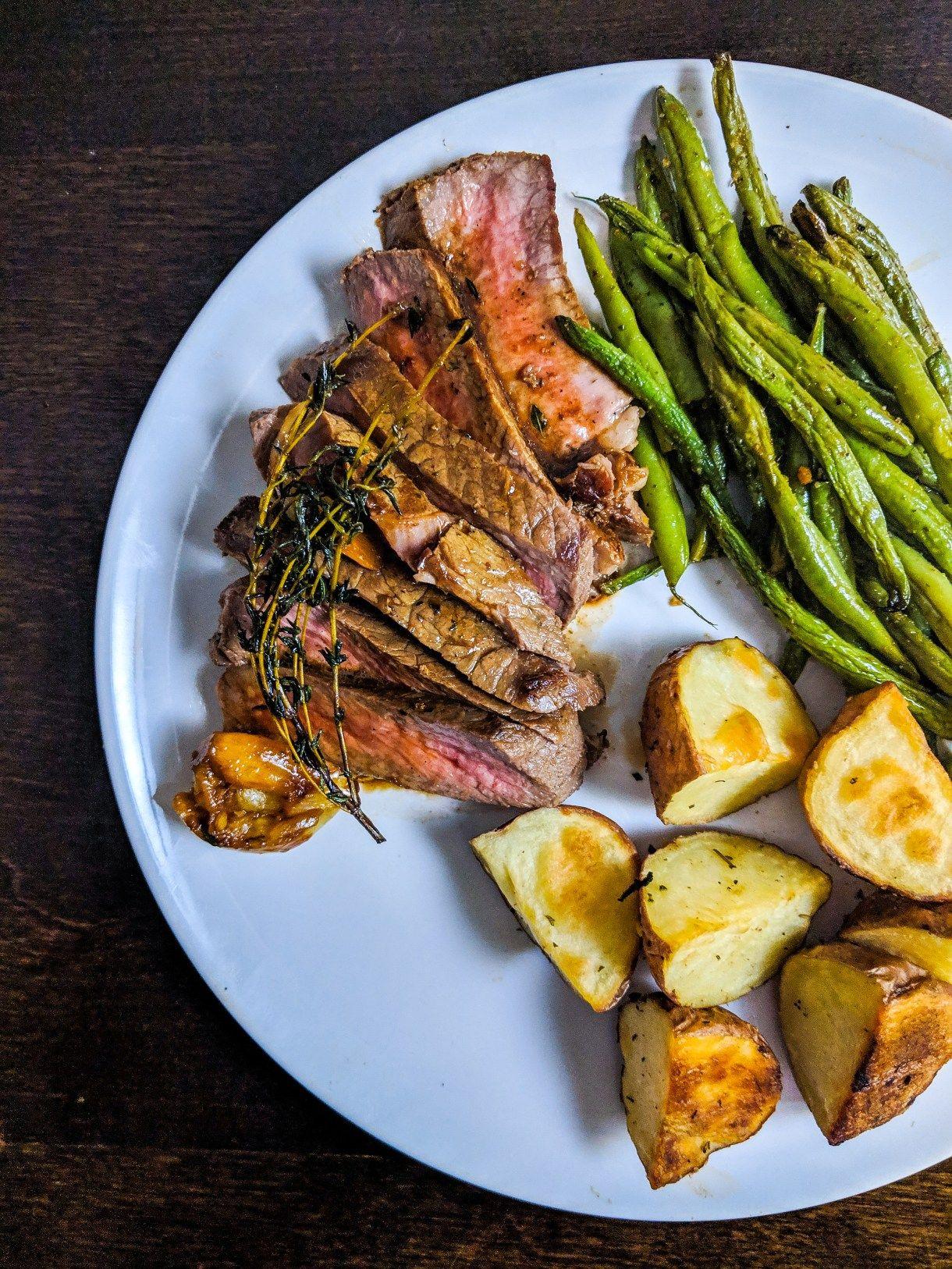 Garlic Herb Butter Basted Sirloin Steak | Recipe | Garlic ...