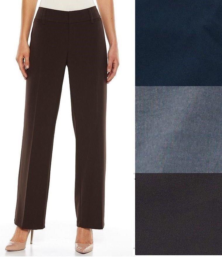 AB Studio Womens Milan Straight Leg Dress Pants Solid Long size 16 NEW https://www.ebay.com/itm/263537739793