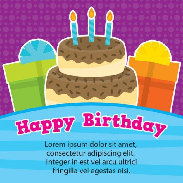Feliz modelo de cart o de anivers rio – Happy Birthday Card Template Free Download
