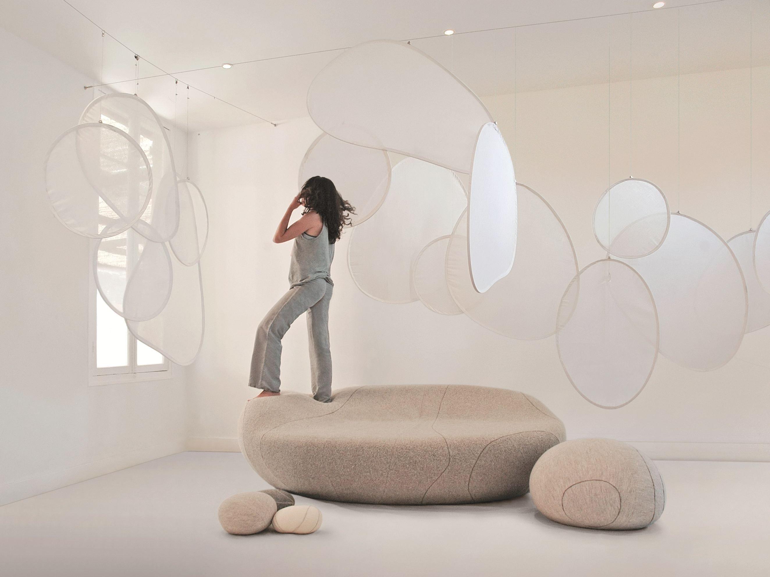 Fabric room divider mobileshadows by smarin design stéphanie marin