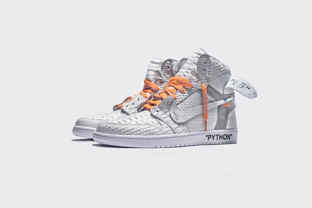 """b0db46f1a33623 LUX White Air Jordan 1 – Custom by """"The Shoe Surgeon"""""""