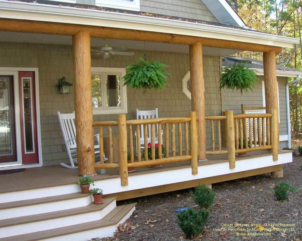 A Conventional Home With Log And Timber Accents For More Photos Or This Or Any Other Or My Homes Please Check Log Home Builders Log Home Designs Timber House