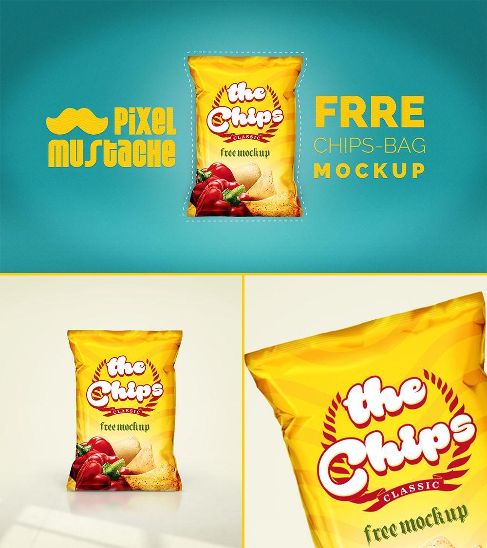 Free Realistic Chips Bag Psd Mockup Bag Mockup Free Paper