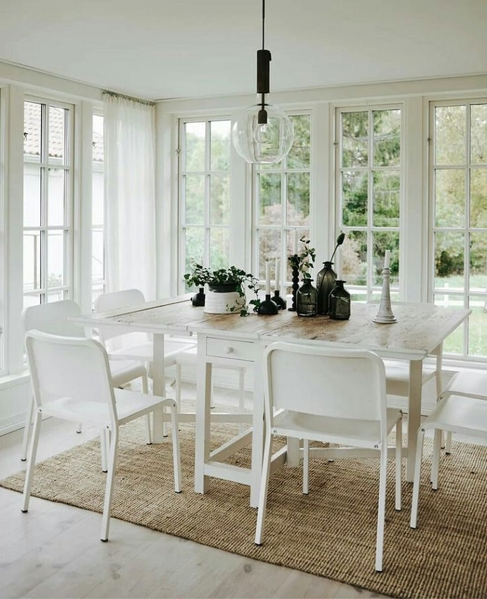 Scandinavian Style Family Home Decorated With Ikea Design Visual Ikea Dining Dining Room Design Ikea Dining Room