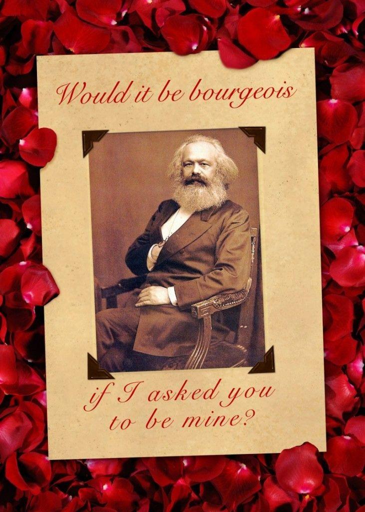 Karl marx valentine card critical