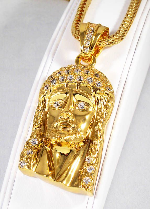 Gold Jesus Piece Chain Jesus Face Necklace For Only