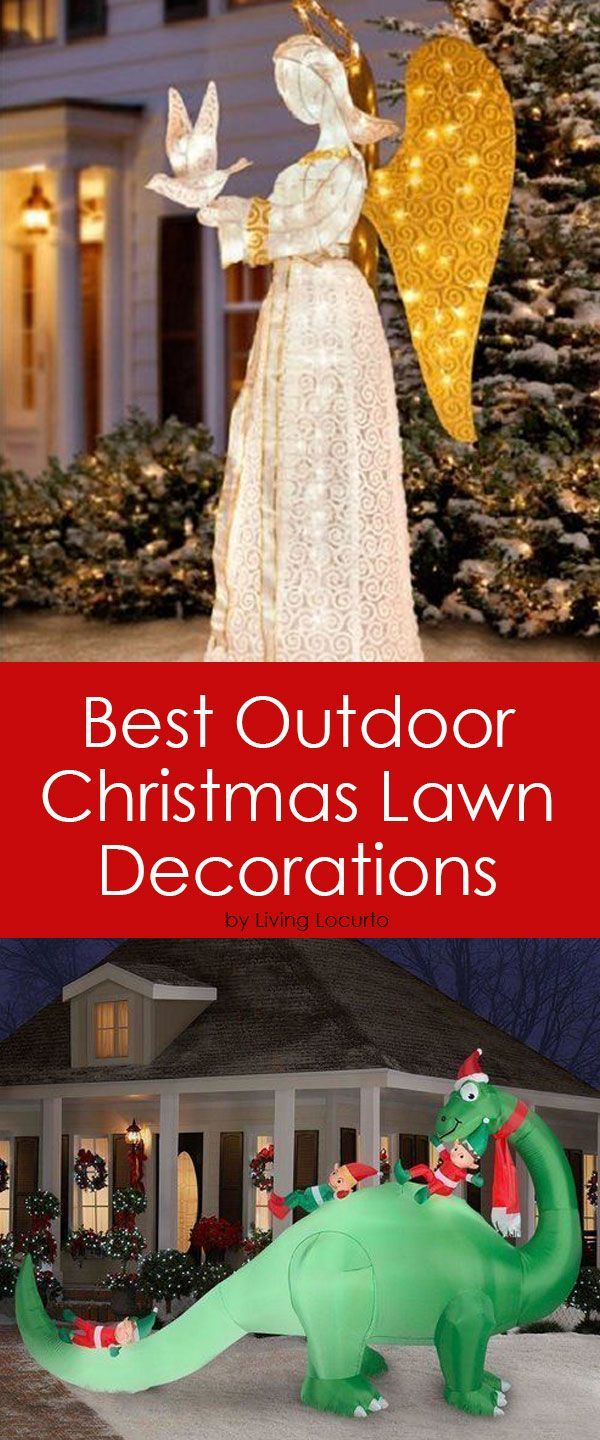add some sparkle to your yard this holiday season decorating the outside of your house - Outdoor Christmas Lawn Decorations
