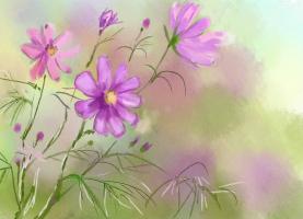 Поэтапно рисовать акварелью цветы