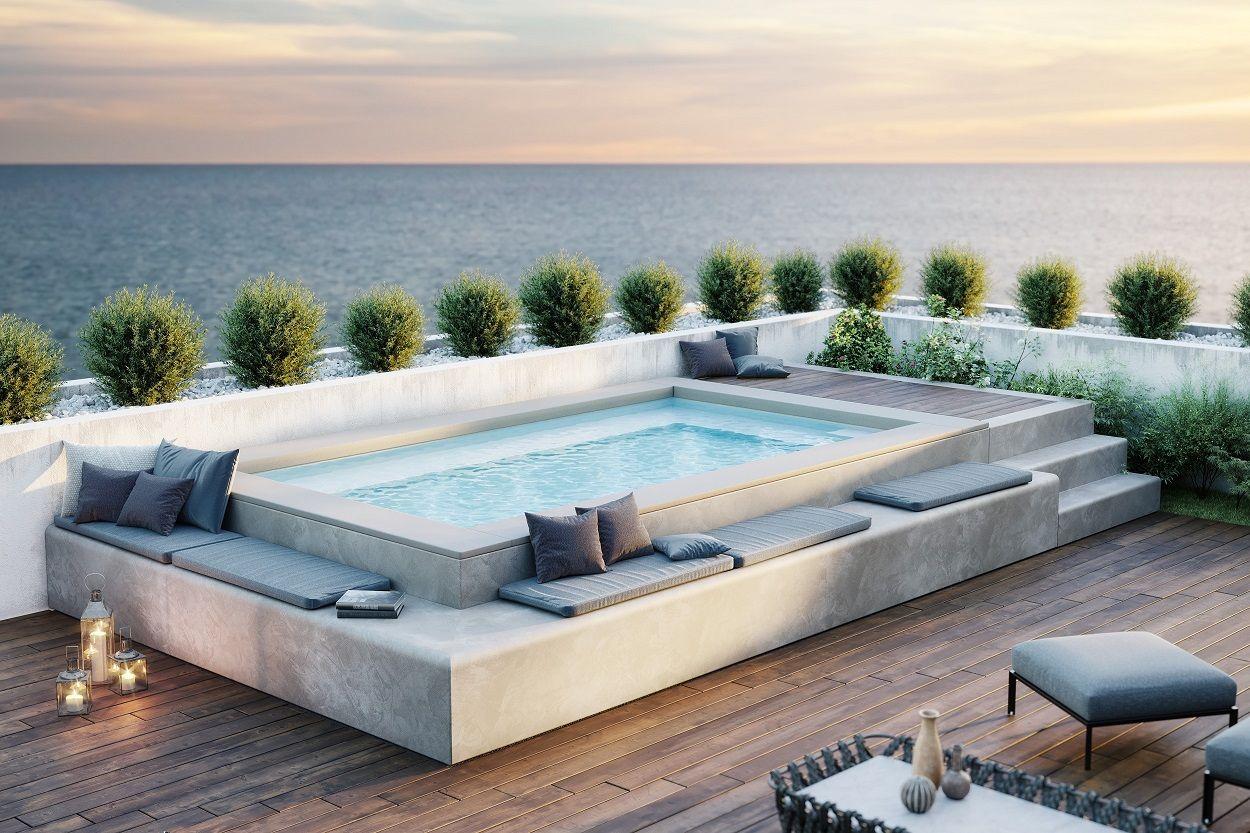 Piscina da terrazzo SPASPACE, personalizzazione e su ...