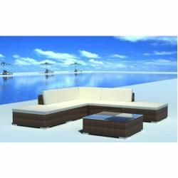 Photo of 5-Sitzer Lounge Set aus Polyrattan mit Polster Dcor Design