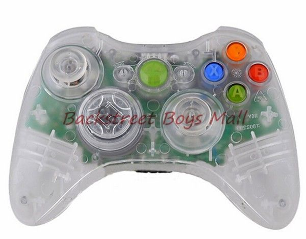 FREE SHIP New DIY Clear Full Housing Shell Case Cover for Xbox 360 Wireless Controller with screw and screwdriver !