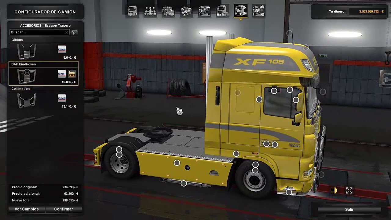 New Dlc Daf Tuning Update 1 28 For Euro Truck Simulator 2 With
