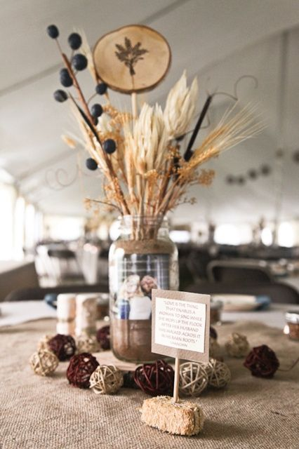 Art country wedding centerpieces western theme