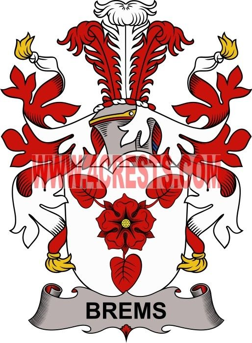 Brems Coat Of Arms Family Crest Denmark By Name Symbol Family