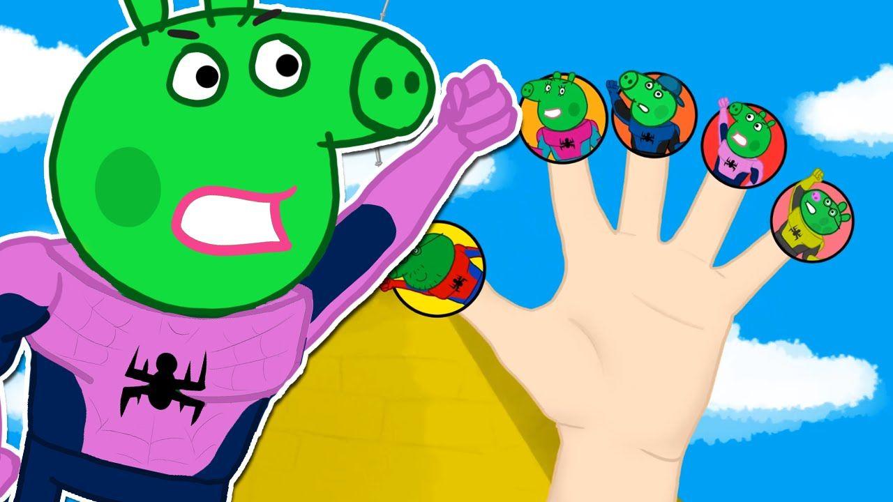 Peppa Pig Spiderman Finger Family \ Nursery Rhymes