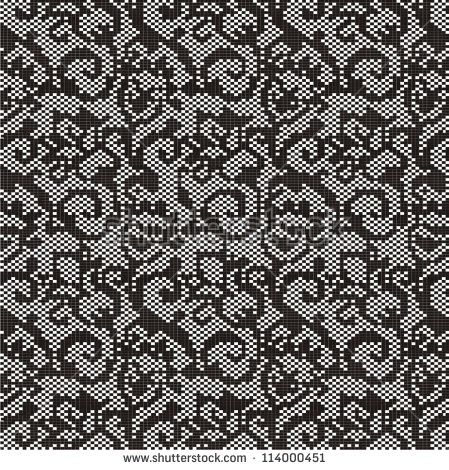 Photo of Ornamental Pattern Knitting Embroidery Stock Vector (Royalty Free) 114000451