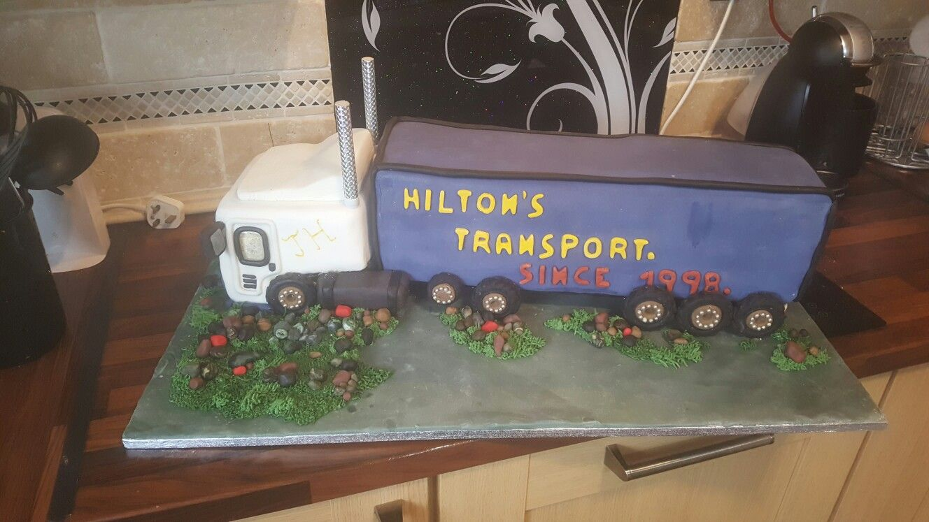 Truck cake for sons 19th birthday..🎂 Truck cakes, Cake