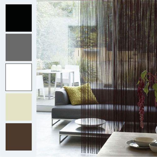 String Curtain Panel Fringe Room Divider Black In 2019