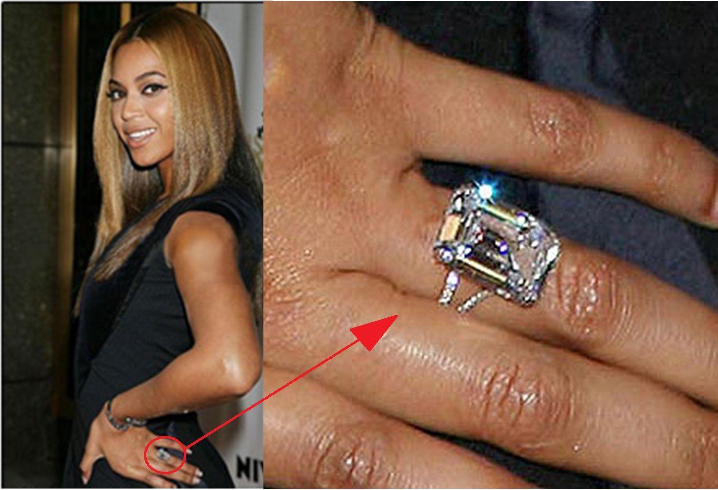 Beyoncs 18 carat Emerald diamond ringLorraine Schwartz 18K given
