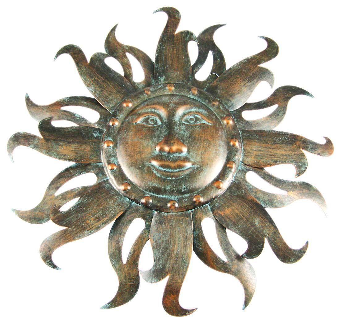 Antiqued Copper Finish Sun Wall Hanging Celestial 19 Ebay Sun Art Art Antiques