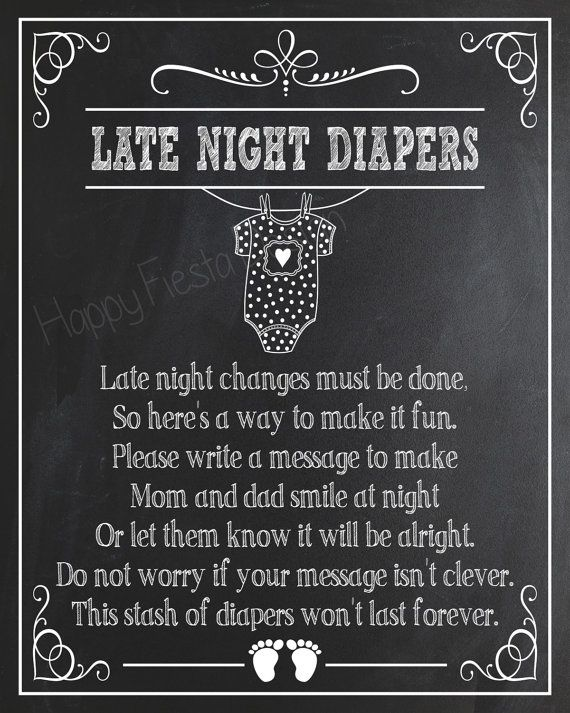 graphic regarding Late Night Diaper Sign Free Printable referred to as PRINTABLE Late Evening Diapers Indication-Printable Youngster Shower Indication