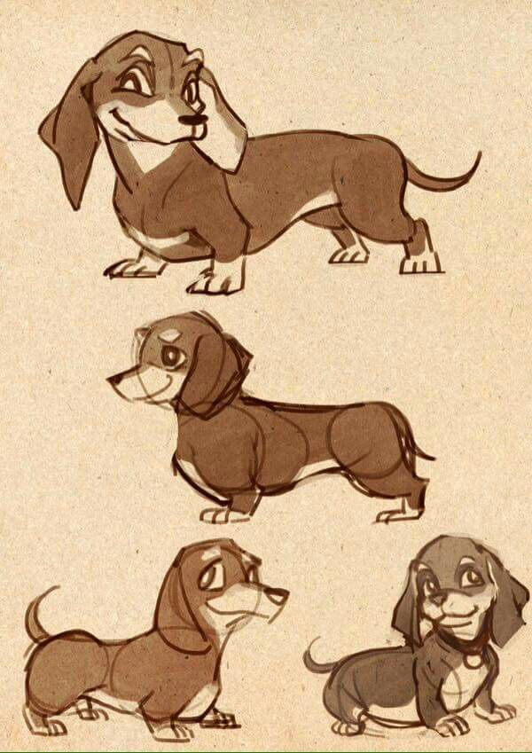 Image Result For 1930s Dachshund Comic Dachshund Drawing