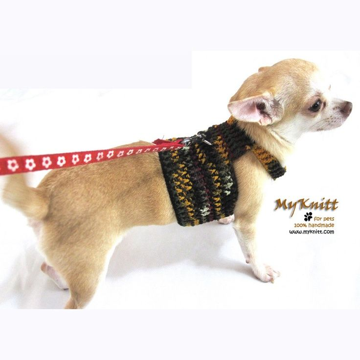 Dog Harness Crochet Clothes Small Dog Clothing | dog clothes & items ...
