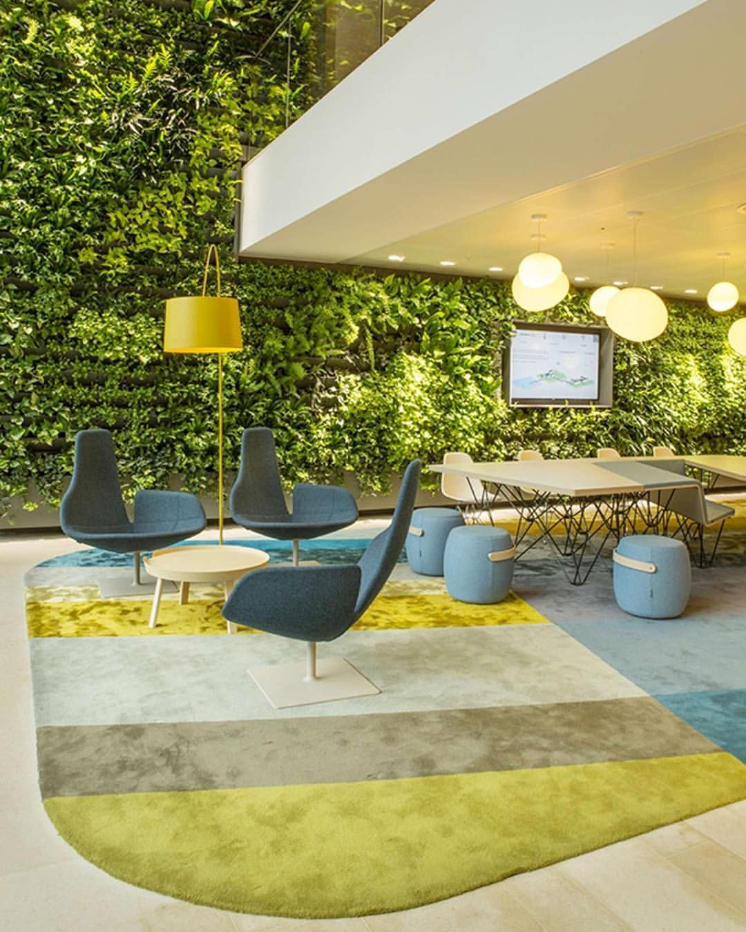 Commercial Walls Landscape Design: Dutch Power Company Nuon's Vibrant Office By Heyligers Design+Projects Consists Of Open