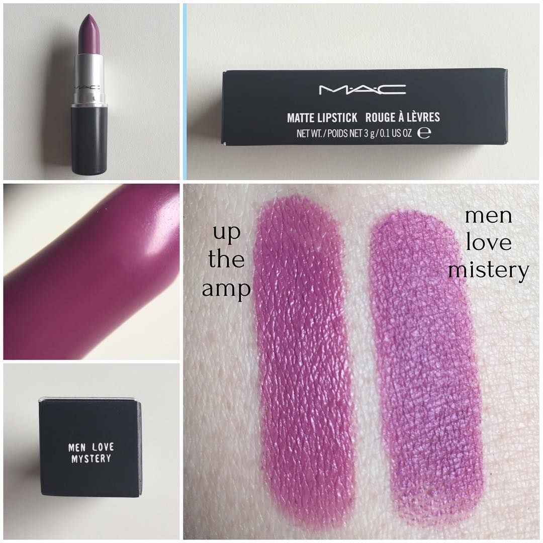 Mac Men Love Mistery (matte) and Mac Up the Amp (shimmer