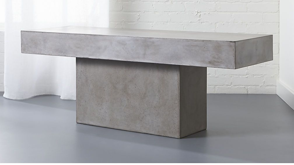 Fuze Grey Bench Bench Living Rooms And Taupe Color Schemes - Cb2 concrete coffee table