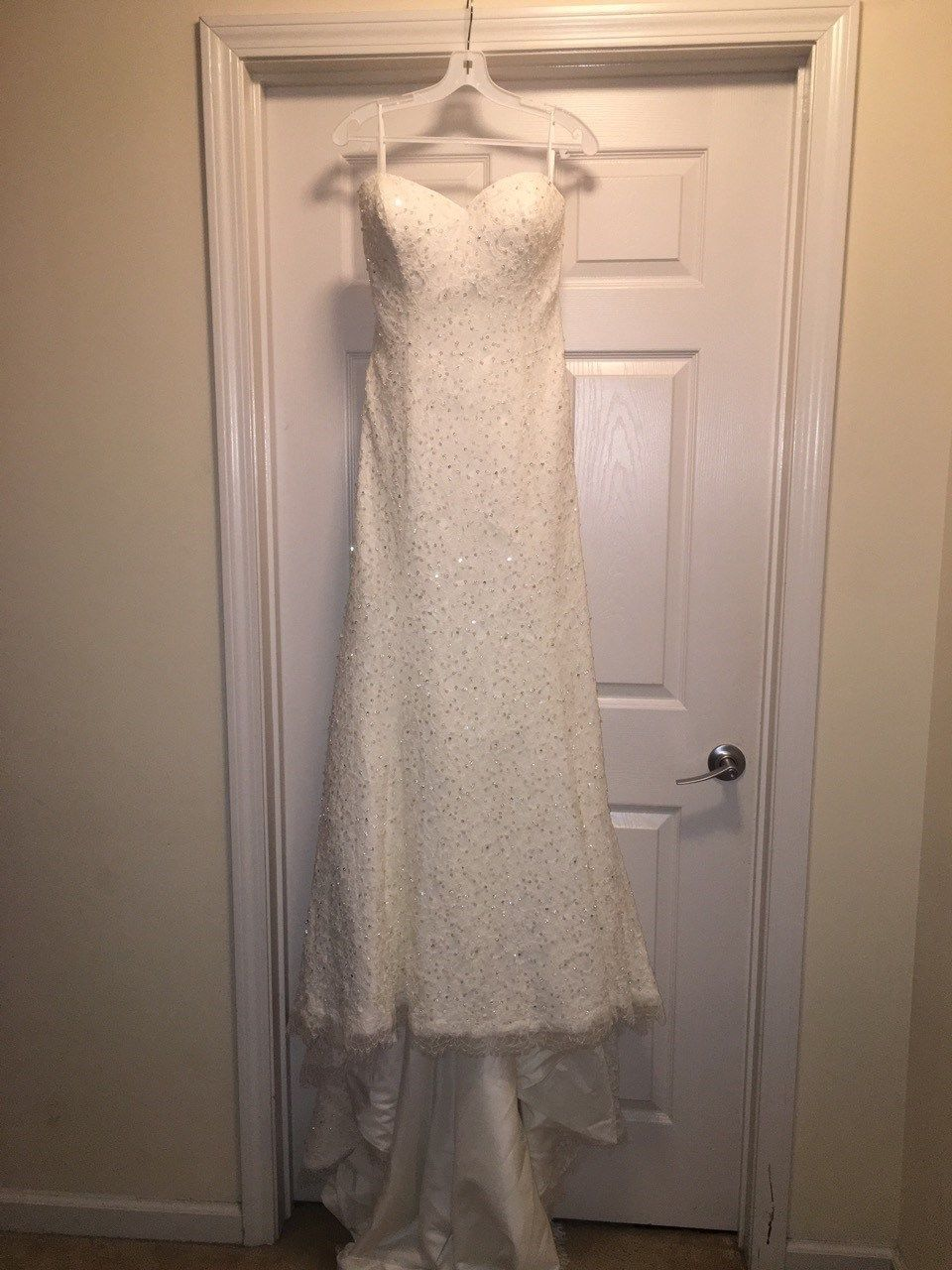 Ivory/ Pearl Wedding Gown with Chapel Train NWT Carrie's Bridal Boutique