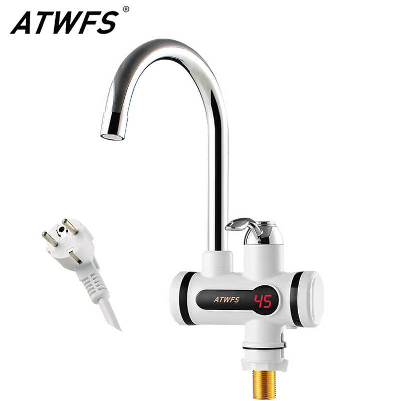 20.6$  Know more - ATWFS Electric Kitchen Water Heater Tap Instant Hot Water Faucet Heater Cold Heating Faucet Tankless Instantaneous Water Heater   #buychinaproducts